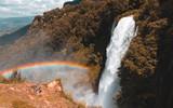 Cascata delle Marmore con arcobaleno
