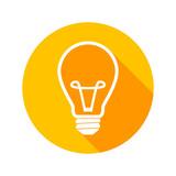Light bulb flat icon vector - 209844964