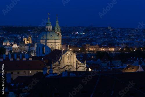View on Prague at night