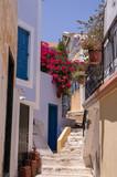 Symi, Grecja - romantyczne uliczki