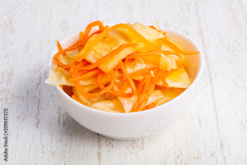 Foto Murales Tasty fermented cabbage