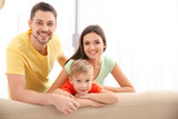 Happy family resting together at home - 209848944