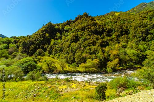 Foto Murales Outdoors long exposure flowing water photography