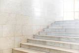 Marble staircase with stairs in abstract luxury architecture