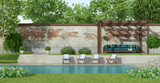 Garden with large pool - 209859350