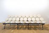 White Leather Marshmallow Sofa