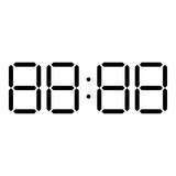 Digital clock face icon black color illustration flat style simple image - 209870162