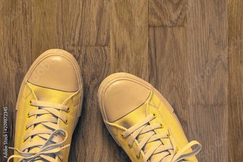 Foto Murales fashionable footwear in sports style