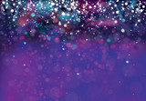Vector violet, sparkle  background with   lights and stars. - 209874100