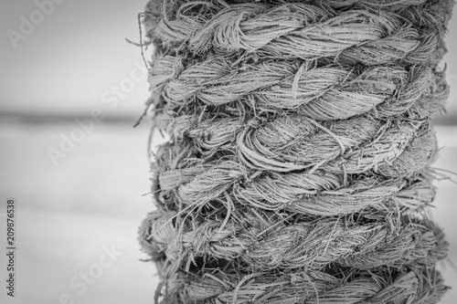 Fotobehang Schip Stylishly beautiful rope background sea in nature