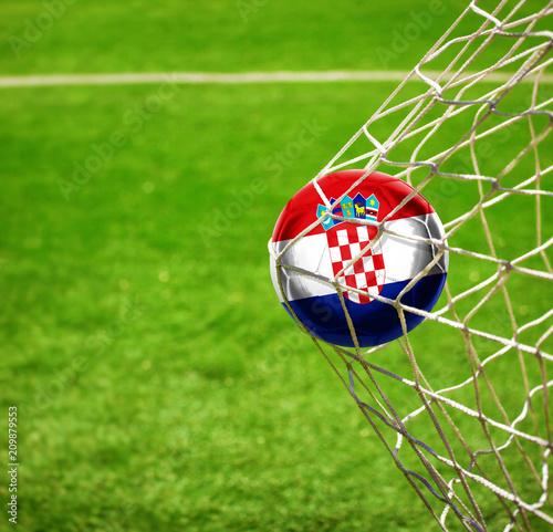 Fussball mit kroatischer Flagge © Thaut Images