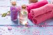 Leinwanddruck Bild - Spa concept. Organic cosmetics.