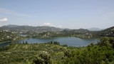 Panoramic view of Baćina lakes, located in Dalmatia, Croatia. Beautiful lake at summer - 209881312