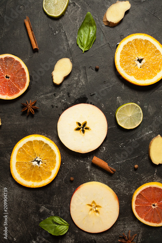 Colorful fruit pattern - 209904739