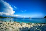 Labadusa beach on Ciovo island in Croatia.  - 209914582