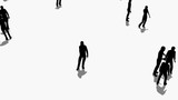 Crowd of people moves.3D animation and rendering - 209920519
