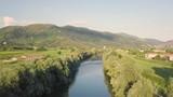 Vista aerea di un piccolo fiume - 209921356