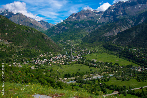 Aluminium Nachtblauw Französischen Alpen bei Valllouis und Puy Saint Vincent