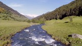 Mountain stream in the Pyrenees mountains Catalonia Spain - 209923334