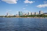 Volga river embankment in Samara, Russia. Panoramic view of the city. - 209924785