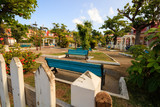 City park in Guadalupe Island, Caribbean. - 209931746