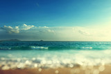 Sunset, Seychelles beach, tilt shift effect - 209934759