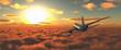 Leinwanddruck Bild - passenger plane