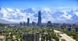 Leinwanddruck Bild - Santiago Chile cityscape