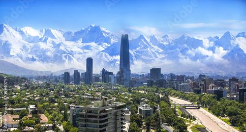 Leinwanddruck Bild Santiago Chile cityscape