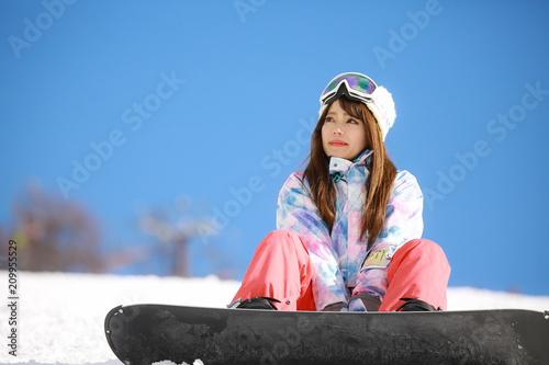 fototapeta na ścianę スノーボードをする女性