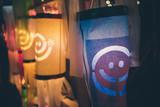 Thai style paper lanterns at night - 209968753