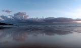 Sunrise at Hendayes beach