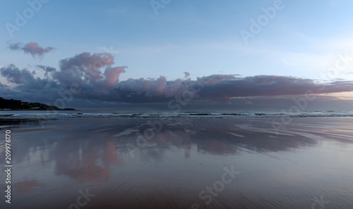 Foto Murales Sunrise at Hendayes beach