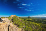 The summit of Mount Ngungun, Glass House Mountains, Sunshine Coa