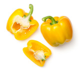 Yellow Peppers Isolated on White Background - 209988337