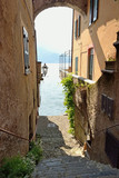 Narrow street in Varenna on Lake Como - Lecco, Lombardy, Italy - 209998165