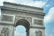 """May 24, 2018 Paris, France. Fragment of the monument """"Triumphal arch"""""""