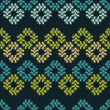 Seamless background with decorative leaves. Flower mosaic. Textile rapport.