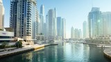 morning hyperlapse, Dubai Marina, UAE - 210019343
