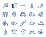 France Vector Icon Set