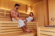 Leinwanddruck Bild - Sauna in two