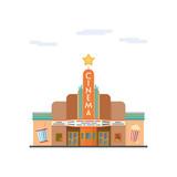 Cinema flat design vector illustration - 210027580