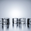 Leinwanddruck Bild - Some ice cubes with copy space for your content