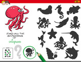 educational shadows game with octopuses - 210036772