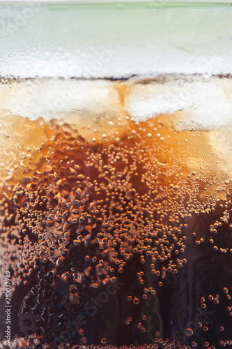 cola with ice cubes - 210037789