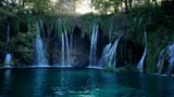 Waterfall in forest, Plitvice, Croatia - 210038768