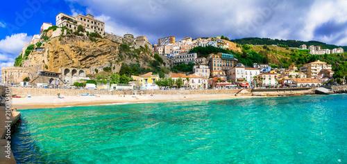 Plexiglas Freesurf Italian summer holidays -Pizzo Calabro - beautiful coastal town in Calabria Italy