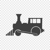 The locomotive icon. Vector illustration on a transparent background