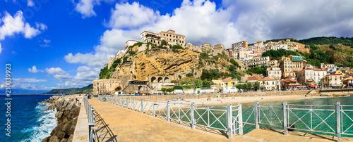 Plexiglas Freesurf Pizzo Calabro - beautiful coastal town in Calabria with great beach. Italy