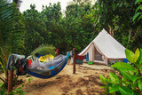 Tourist camp in the tropical jungle. - 210040752